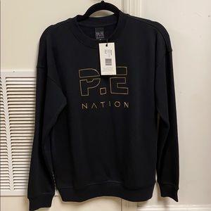 P.E Nation black heads up metallic sweatshirt